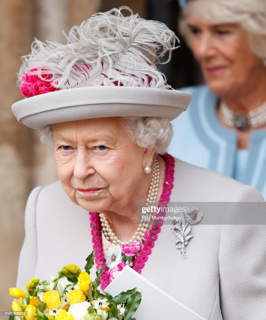 The Queen And The Duchess Of Cornwall Attend A Service Marking The 750th Anniversary Of Westminster Abbey : News Photo