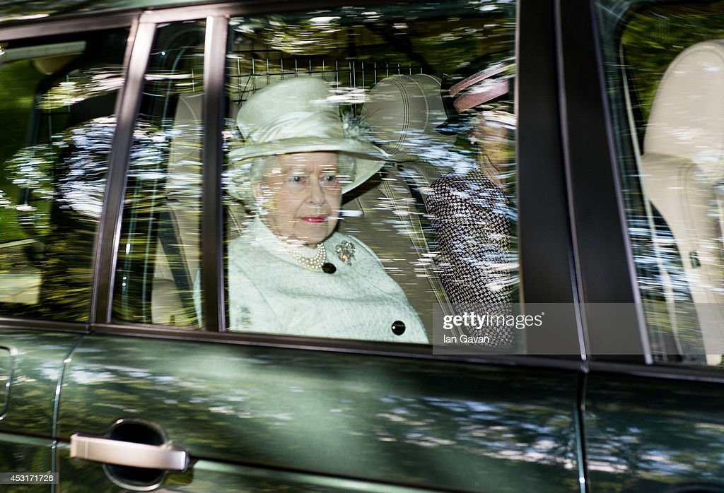 Queen Elizabeth II attends a service of commemoration at Crathie Kirk Church on August 4, 2014 in Crathie, Aberdeenshire, Scotland. Monday 4th August marks the 100th anniversary of Great Britain declaring war on Germany. In 1914 British Prime Minister Herbert Asquith announced at 11pm that Britain was to enter the war after Germany had violated Belgium neutrality. The First World War or the Great War lasted until 11 November 1918 and is recognised as one of the deadliest historical conflicts with millions of causalities. A series of events commemorating the 100th anniversary are taking place throughout the day.