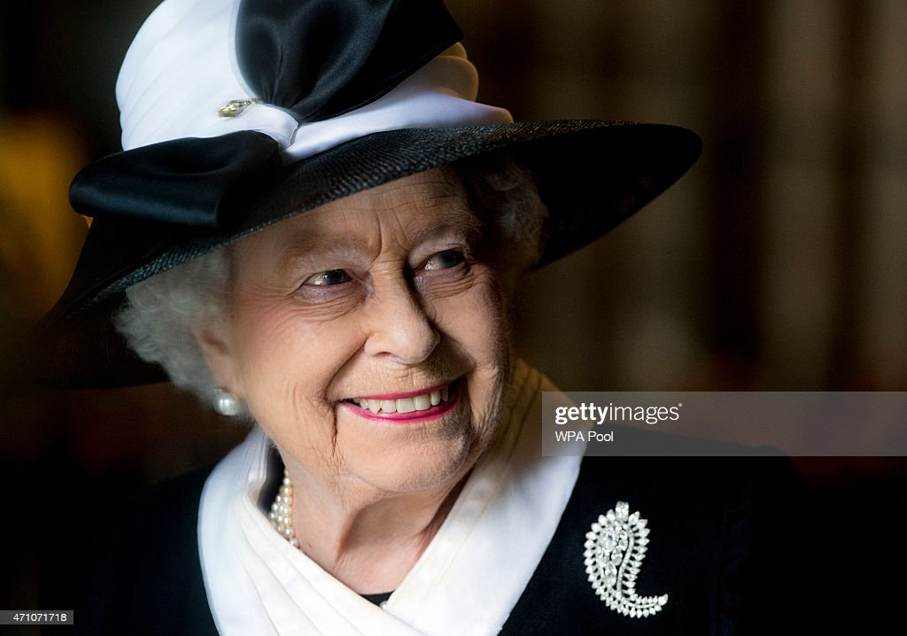 Queen Elizabeth II attends a Service of Commemoration at Westminster Abbey to mark the centenary of the Gallipoli and Anzac campaigns at Westminster Abbey on April 25, 2015 in London, England.