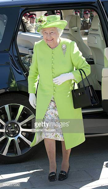Queen Elizabeth II attends a Service of Remembrance at Bayeux cathedral during DDay 70 Commemorations on June 6 2014 in Bayeux France