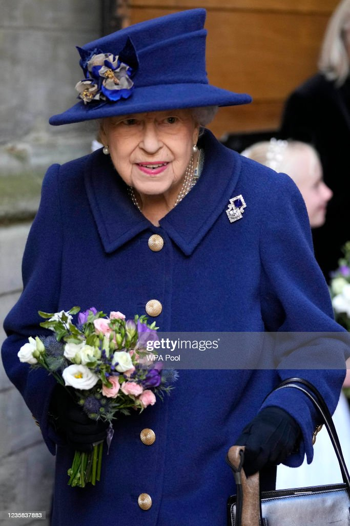 The Queen And The Princess Royal Attend A Service Of Thanksgiving At Westminster Abbey : News Photo
