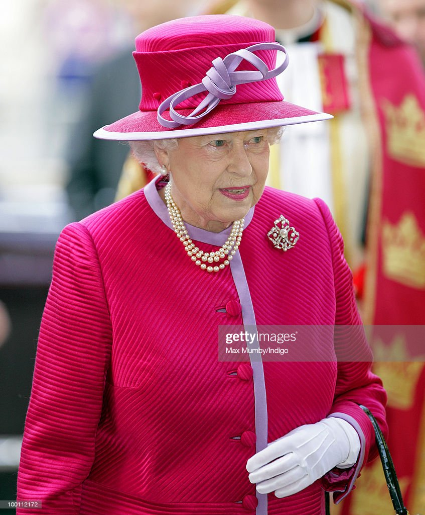 HM Queen Elizabeth II attends a service to mark the 450th anniversary of Westminster Abbey and Westminster School being granted the Royal Charter by Queen Elizabeth I at Westminster Abbey on May 21, 2010 in London, England.