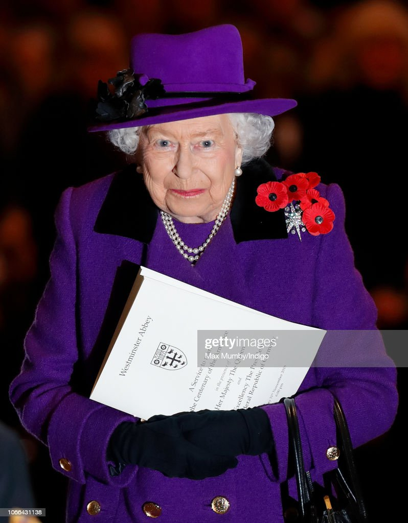 The Queen Attends A Service At Westminster Abbey Marking The Centenary Of WW1 : News Photo