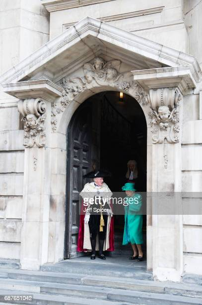 Queen Elizabeth II attends a service to mark the Centenary of the Order of the British Empire at St Paul's Cathedral on May 24 2017 in London England