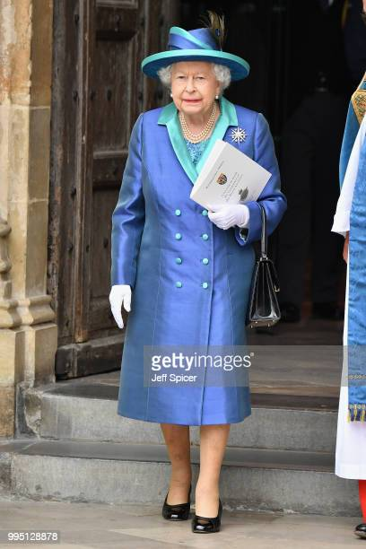 Queen Elizabeth II attends as members of the Royal Family attend events to mark the centenary of the RAF on July 10 2018 in London England