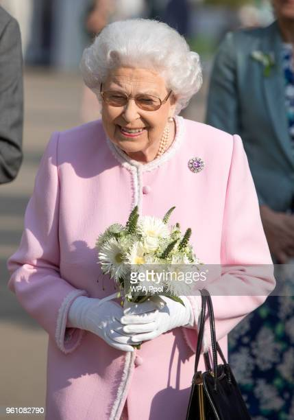 Queen Elizabeth II attends at the Chelsea Flower Show 2018 on May 21 2018 in London England