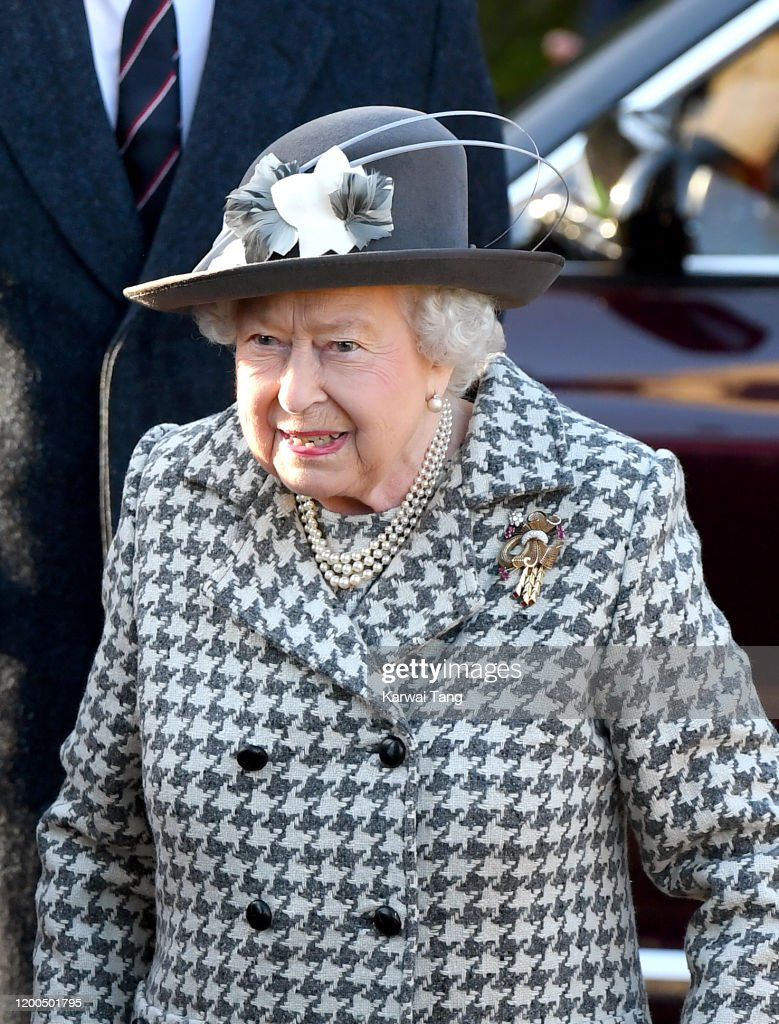 The Queen Attends Church At Hillington In Sandringham : News Photo