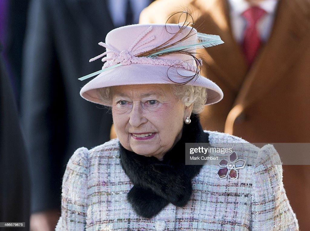 Queen Elizabeth II Attends Church In Norfolk : News Photo