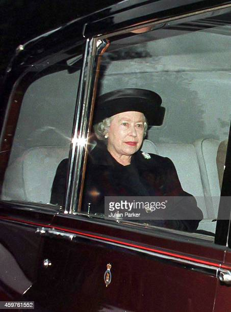 Queen Elizabeth II, attends Crathie Kirk Church, near Balmoral Estate, Scotland, 31st Aug 1997, the morning after the death of Diana, Princess of...