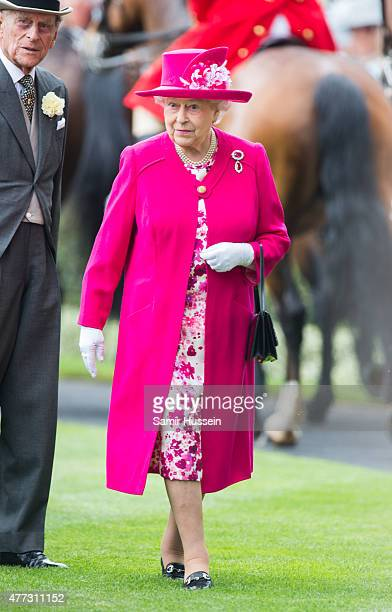 Queen Elizabeth II attends day 1 of Royal Ascot at Ascot Racecourse on June 16, 2015 in Ascot, England.