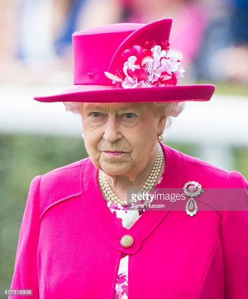Queen Elizabeth II attends day 1 of Royal Ascot at Ascot Racecourse on June 16 2015 in Ascot England