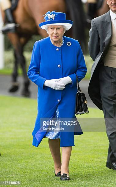 Queen Elizabeth II attends day 2 of Royal Ascot at Ascot Racecourse on June 17, 2015 in Ascot, England.