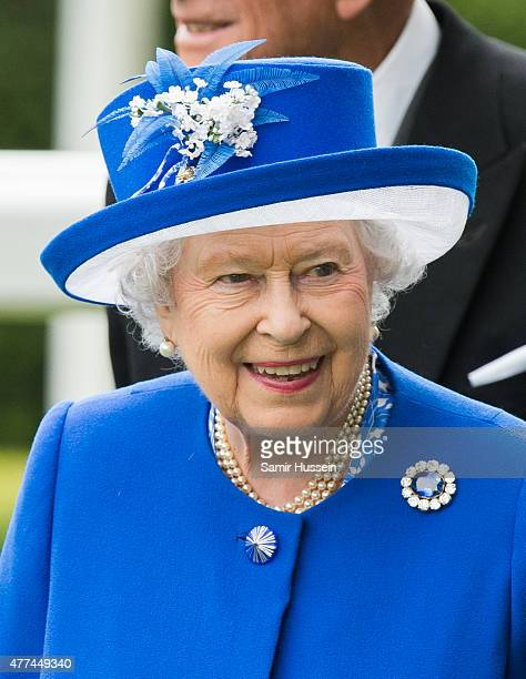 Queen Elizabeth II attends day 2 of Royal Ascot at Ascot Racecourse on June 17 2015 in Ascot England