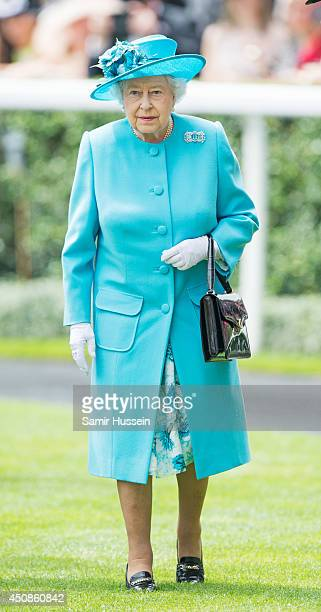 Queen Elizabeth II attends Day 3 of Royal Ascot at Ascot Racecourse on June 19, 2014 in Ascot, England.