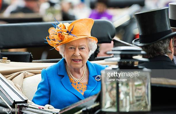 Queen Elizabeth II attends day 3 of Royal Ascot at Ascot Racecourse on June 16 2016 in Ascot England