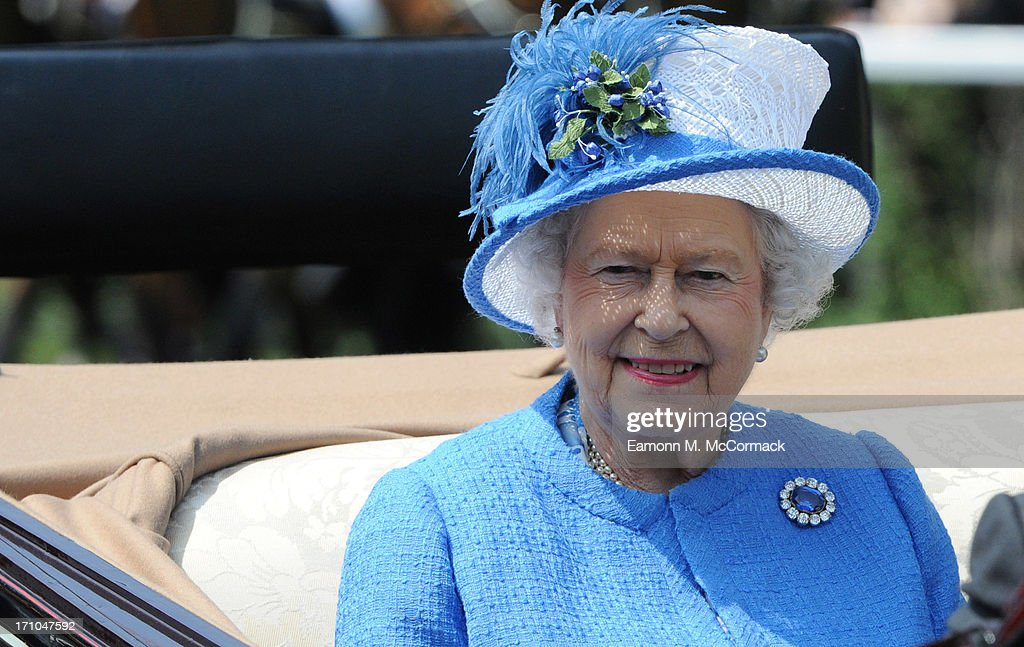 Queen Elizabeth II attends Day 4 of Royal Ascot at Ascot Racecourse on June 21, 2013 in Ascot, England.