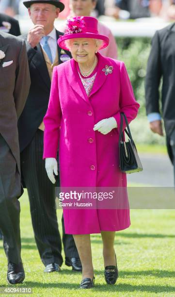Queen Elizabeth II attends Day 4 of Royal Ascot at Ascot Racecourse on June 20 2014 in Ascot England