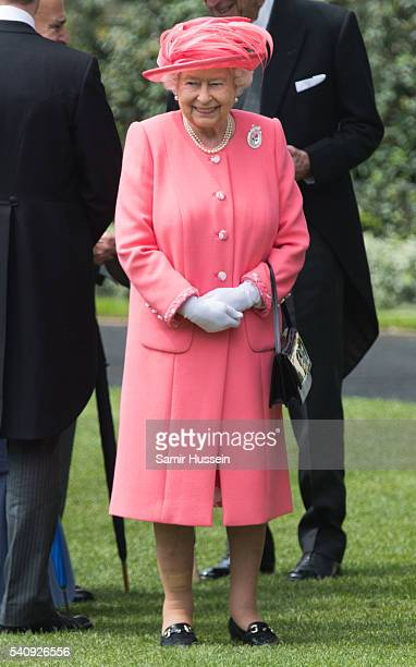 Queen Elizabeth II attends day 4 of Royal Ascot at Ascot Racecourse on June 17 2016 in Ascot England