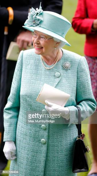 Queen Elizabeth II attends day 4 of Royal Ascot at Ascot Racecourse on June 23 2017 in Ascot England