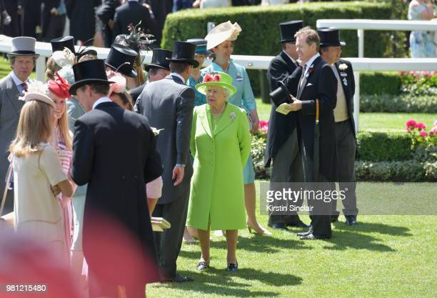 Queen Elizabeth II attends day 4 of Royal Ascot at Ascot Racecourse on June 22 2018 in Ascot England