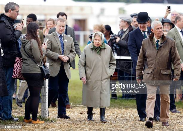 Queen Elizabeth II attends day 4 of the Royal Windsor Horse Show in Home Park on May 11, 2019 in Windsor, England.