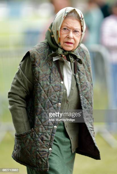 Queen Elizabeth II attends day 4 of the Royal Windsor Horse Show in Home Park on May 13, 2017 in Windsor, England.