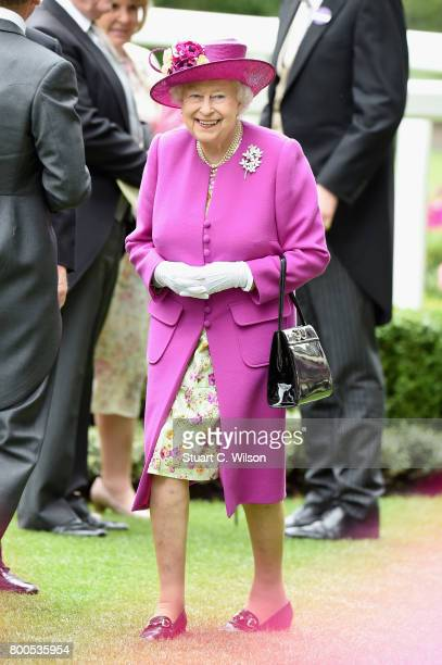 Queen Elizabeth II attends day 5 of Royal Ascot 2017 at Ascot Racecourse on June 24 2017 in Ascot England