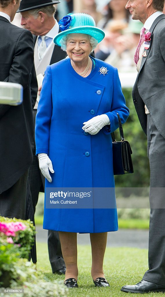 Queen Elizabeth II attends day 5 of Royal Ascot at Ascot Racecourse on June 18, 2016 in Ascot, England.