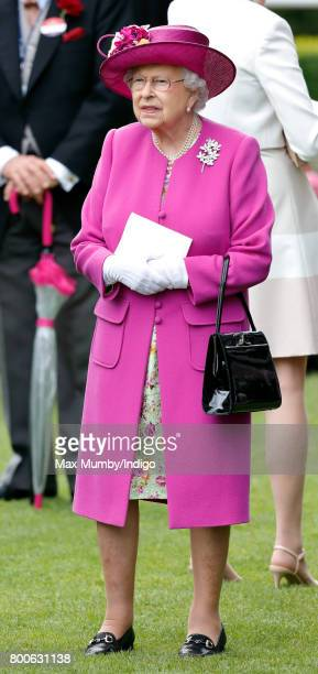 Queen Elizabeth II attends day 5 of Royal Ascot at Ascot Racecourse on June 24 2017 in Ascot England