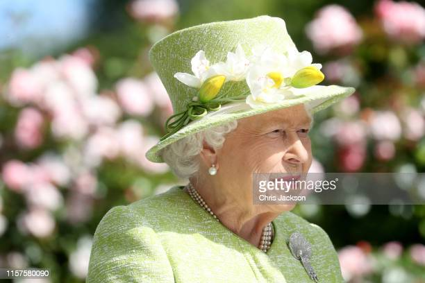 Queen Elizabeth II attends day five of Royal Ascot at Ascot Racecourse on June 22, 2019 in Ascot, England.