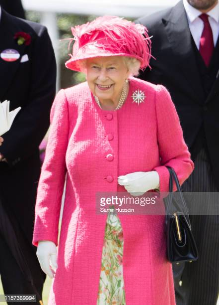 Queen Elizabeth II attends day four of Royal Ascot at Ascot Racecourse on June 21, 2019 in Ascot, England.
