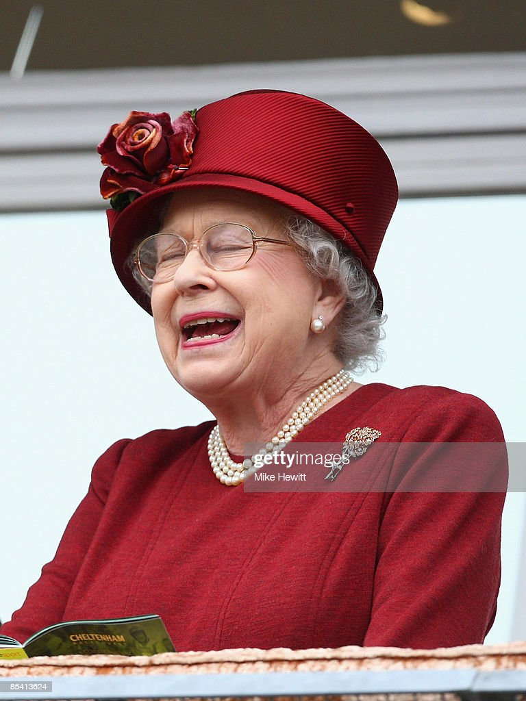 Queen Elizabeth II attends Day Four of the Cheltenham Festival at the Cheltenham racecourse on March 13, 2009 in Cheltenham, England.