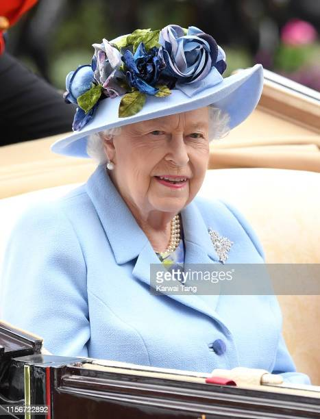Queen Elizabeth II attends day one of Royal Ascot at Ascot Racecourse on June 18, 2019 in Ascot, England.