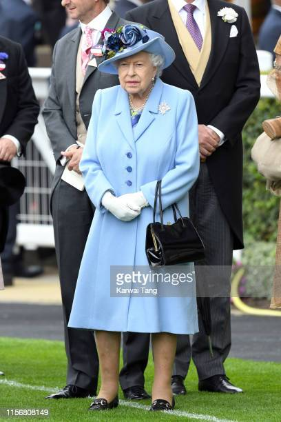Queen Elizabeth II attends day one of Royal Ascot at Ascot Racecourse on June 18 2019 in Ascot England