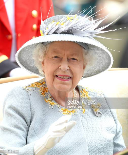 Queen Elizabeth II attends day three Ladies Day of Royal Ascot at Ascot Racecourse on June 20 2019 in Ascot England