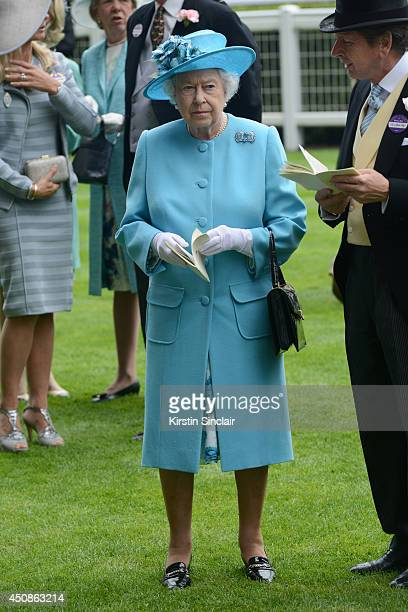 Queen Elizabeth II attends day three of Royal Ascot at Ascot Racecourse on June 19 2014 in Ascot England
