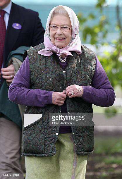 Queen Elizabeth II attends day three of the Royal Windsor Horse Show at Home Park on May 11, 2012 in Windsor, England.