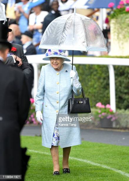 Queen Elizabeth II attends day two of Royal Ascot at Ascot Racecourse on June 19, 2019 in Ascot, England.