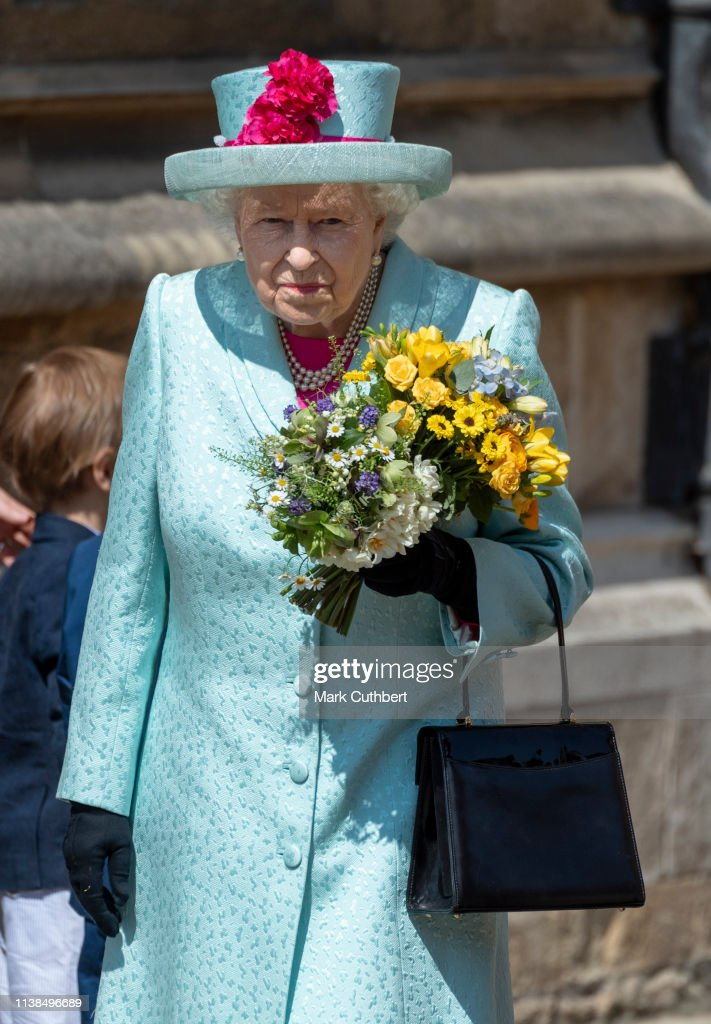 The Royal Family Attend Easter Service At St George's Chapel, Windsor : Foto di attualità