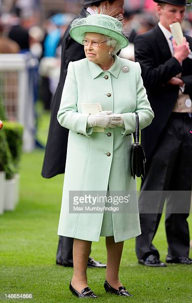 Queen Elizabeth II attends Ladies Day during Royal Ascot at Ascot Racecourse on June 21 2012 in Ascot England