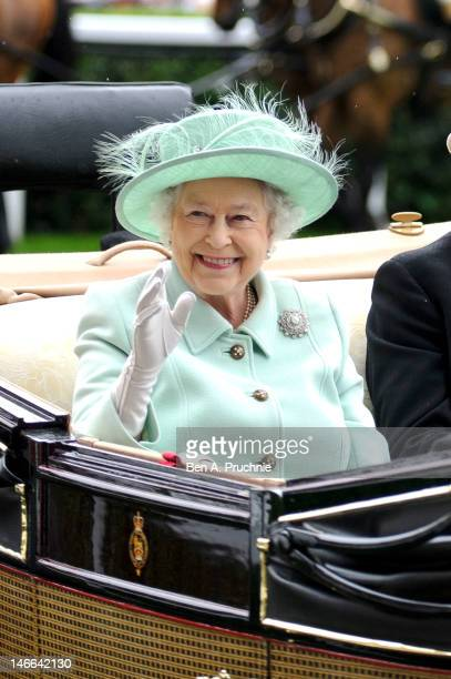 Queen Elizabeth II attends Ladies Day on day three of Royal Ascot at Ascot Racecourse on June 21, 2012 in Ascot, England.