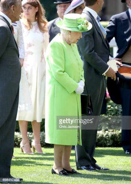 Queen Elizabeth II attends Royal Ascot 2017 at Ascot Racecourse on June 20 2017 in Ascot England