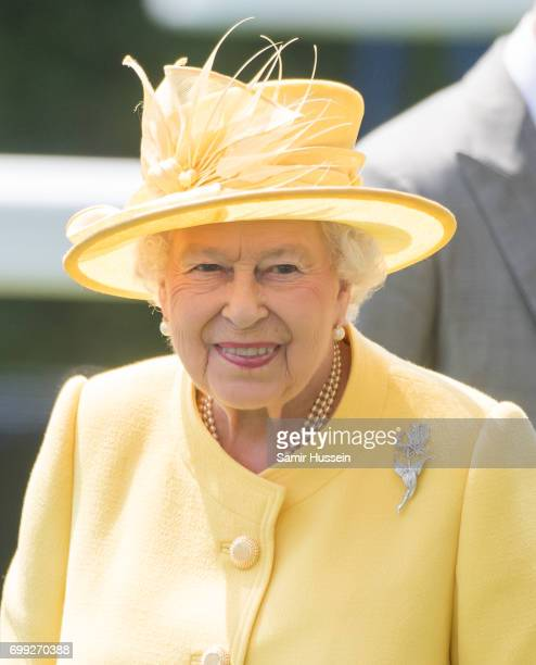 Queen Elizabeth II attends Royal Ascot 2017 at Ascot Racecourse on June 21 2017 in Ascot England