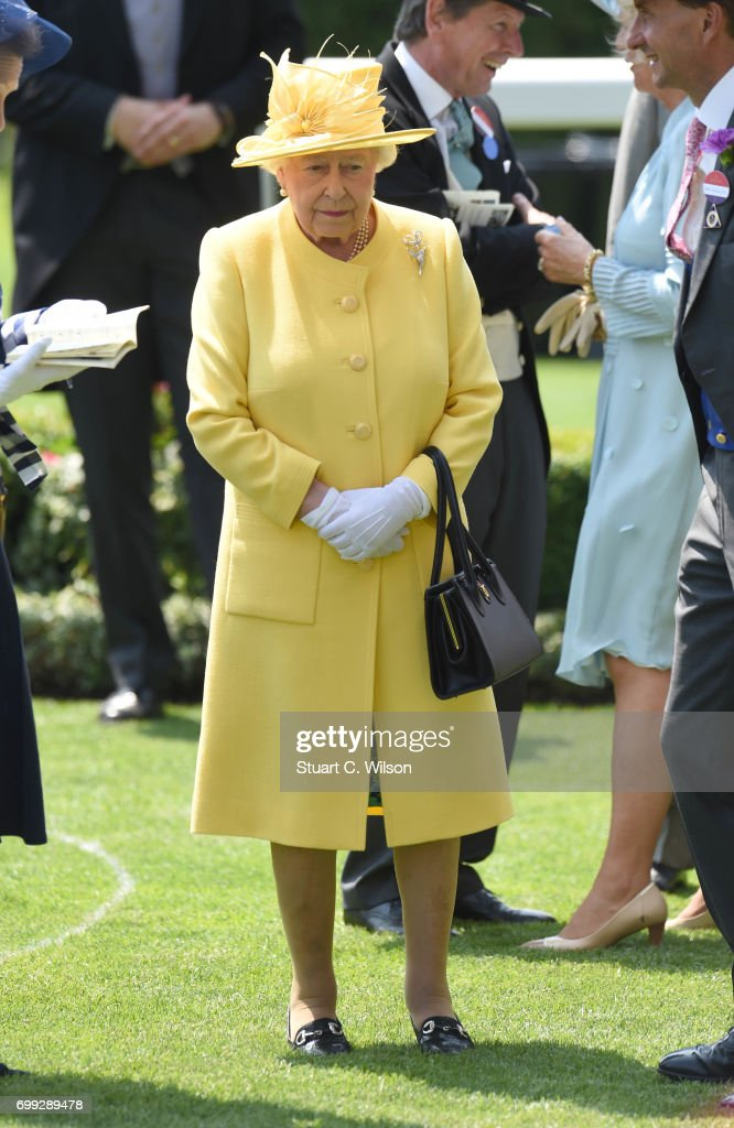 Queen Elizabeth II attends Royal Ascot 2017 at Ascot Racecourse on June 21, 2017 in Ascot, England.
