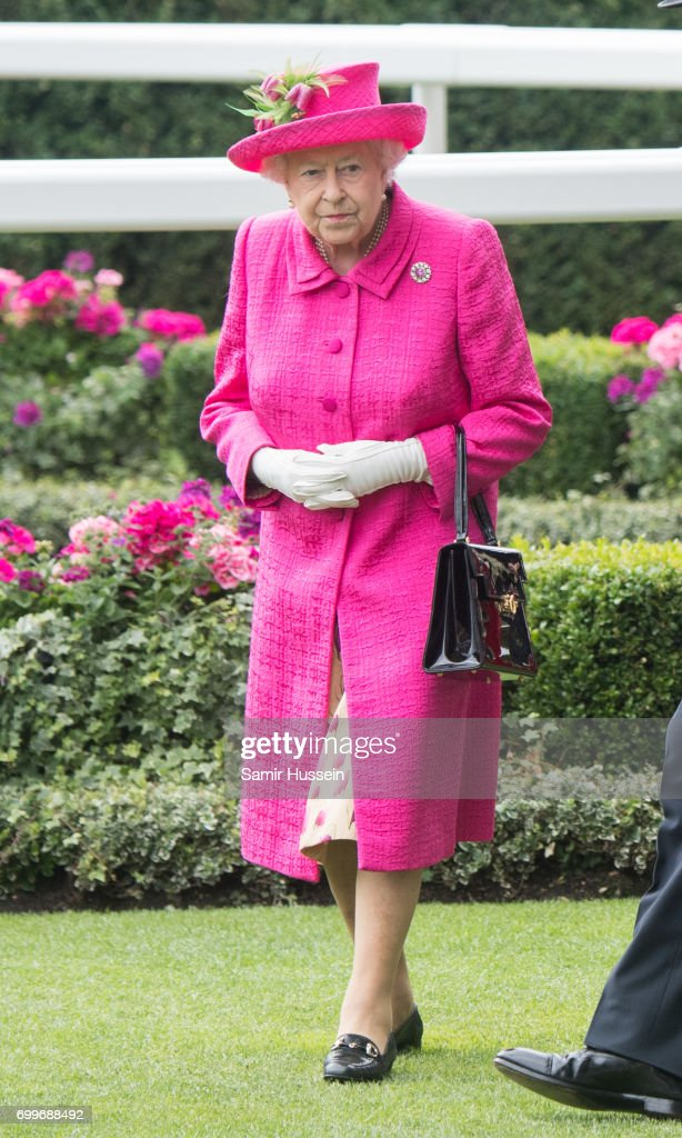 Queen Elizabeth II attends Royal Ascot 2017 at Ascot Racecourse on June 22, 2017 in Ascot, England.