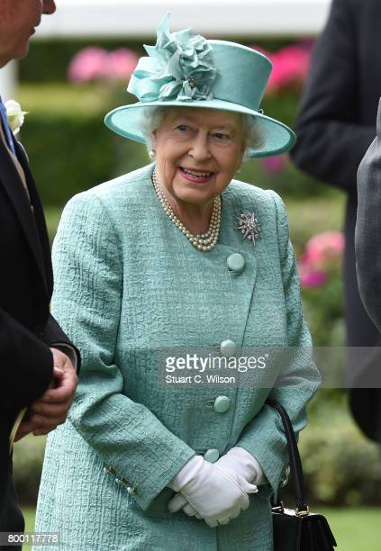 Queen Elizabeth II attends Royal Ascot 2017 at Ascot Racecourse on June 23 2017 in Ascot England