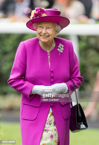 Queen Elizabeth II attends Royal Ascot 2017 at Ascot Racecourse on June 24 2017 in Ascot England