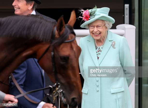 Queen Elizabeth II attends Royal Ascot 2021 at Ascot Racecourse on June 19, 2021 in Ascot, England.