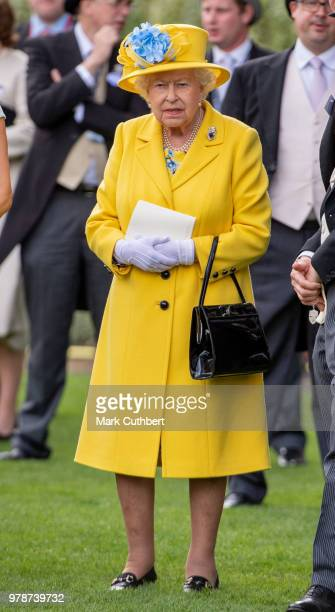 Queen Elizabeth II attends Royal Ascot Day 1 at Ascot Racecourse on June 19 2018 in Ascot United Kingdom