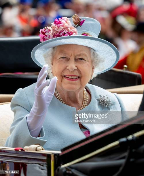 Queen Elizabeth II attends Royal Ascot Day 2 at Ascot Racecourse on June 20 2018 in Ascot United Kingdom